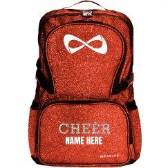 Red Glitter Custom Cheer Logo