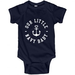 Distressed Anchor Onesie