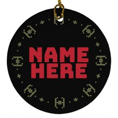 Custom Knit Starship Ornament