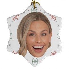 Porcelain Snowflake Ornament