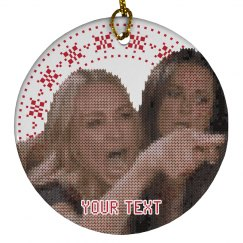 Custom Text Woman Yelling Ornament
