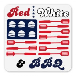 Red, White, & BBQ Magnet