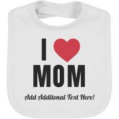 Mothers Day Baby Bib Custom Gift
