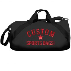 Red Metallic Custom Sports Bag