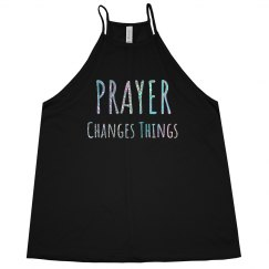 PRAYER CHANGES THINGS Silver Glitter Text