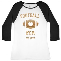 Football Mom Metallic