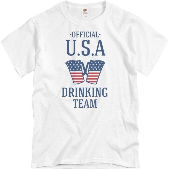 ShirtBANC USA Drinking Team Mens Shirts