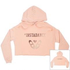 #Instadance cropped fleece hoodie