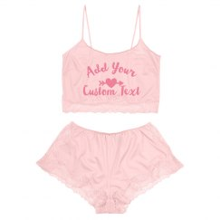 Custom Text On Lingerie Valentine