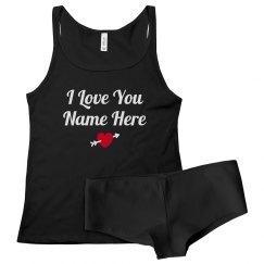 Romantic Valentine Custom Undies