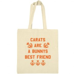 Carats Are a Bunnys Best Friend Easter Bag