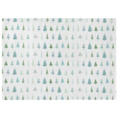 Watercolor Christmas Tree Print Rug