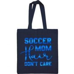 Blue Metallic Soccer Mom Hair Tote