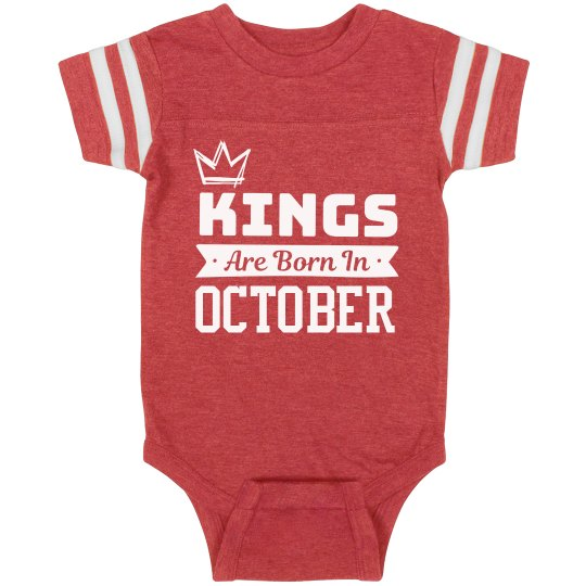 """Baby Boy """"Born in October"""" One Piece"""