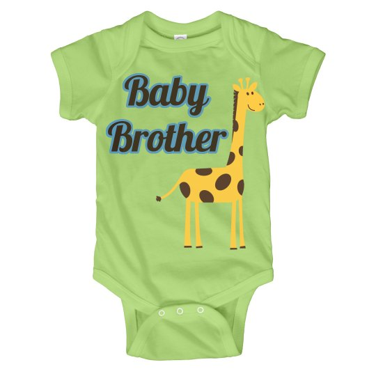 Baby brother giraffe