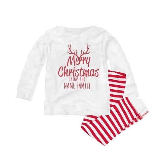 Baby Custom Merry Christmas PJ's