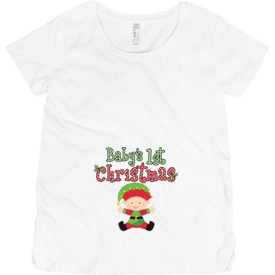 Baby Elf 1st Christmas Pregnancy Announcement