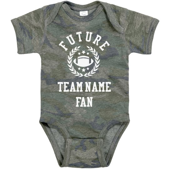 Baby Football Fan Custom Team
