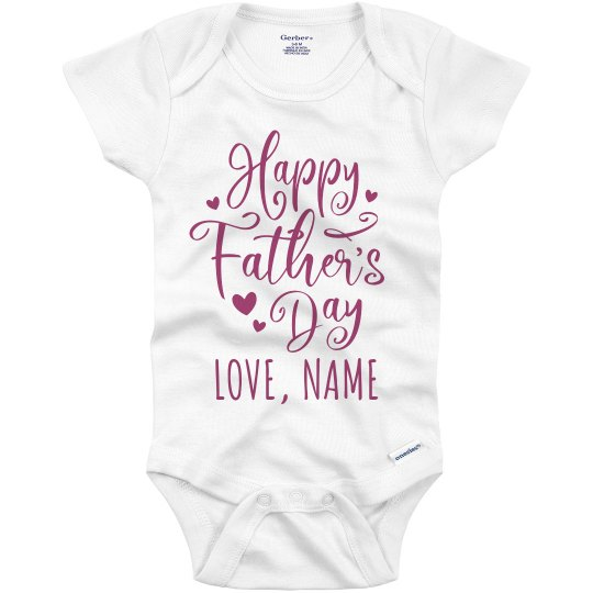 Baby Girl Fathers Day Custom Outfit