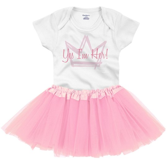 "Baby Girl ""Yes I'm Her"" Dress"