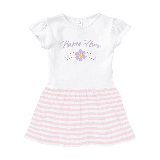 Baby Name Flower Dress