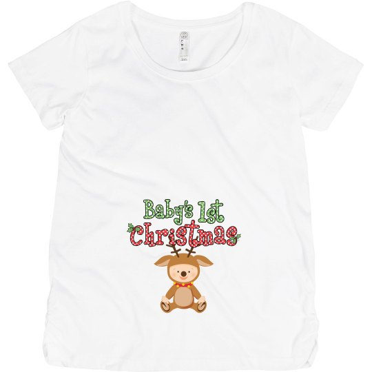 Baby Reindeer 1st Christmas Pregnancy Announcement