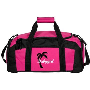 Babygirl tropical pink bag