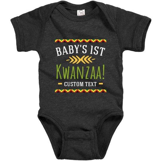 Baby's 1st Kwanzaa Custom Bodysuit