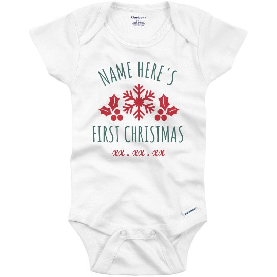 Baby's First Christmas Custom Onesie