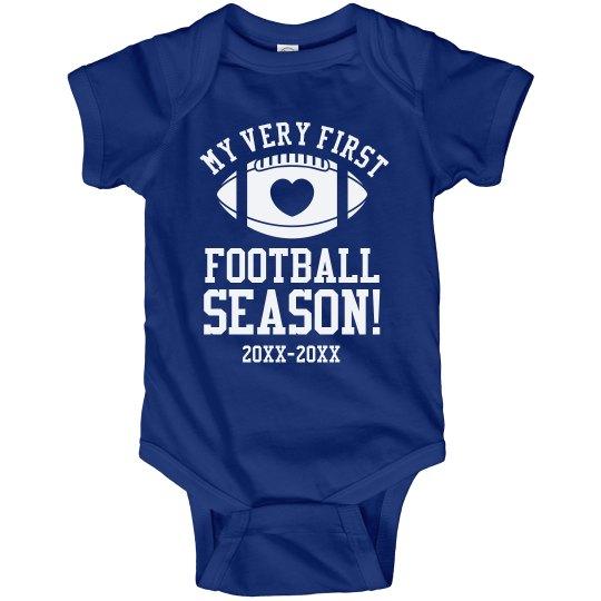 Baby's First Football Season Onesie With Custom Years