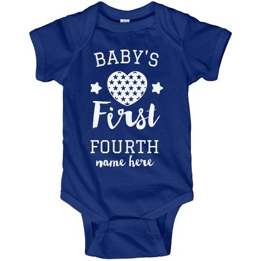 Baby's First Fourth Custom Bodysuit