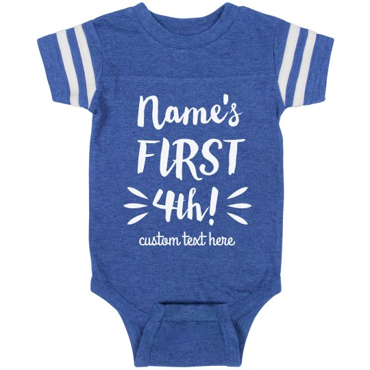 Baby's First Fourth Custom Patriotic Onesie