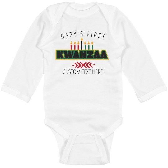 Baby's First Kwanzaa Custom Long Sleeved Bodysuit