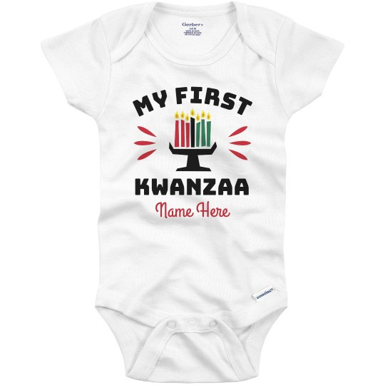 Baby's First Kwanzaa Custom Onesie