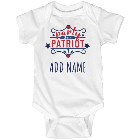 Baby's July 4th Party Patriot