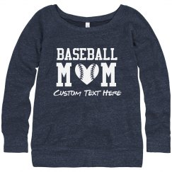Baseball Heart Mom Sweatshirt