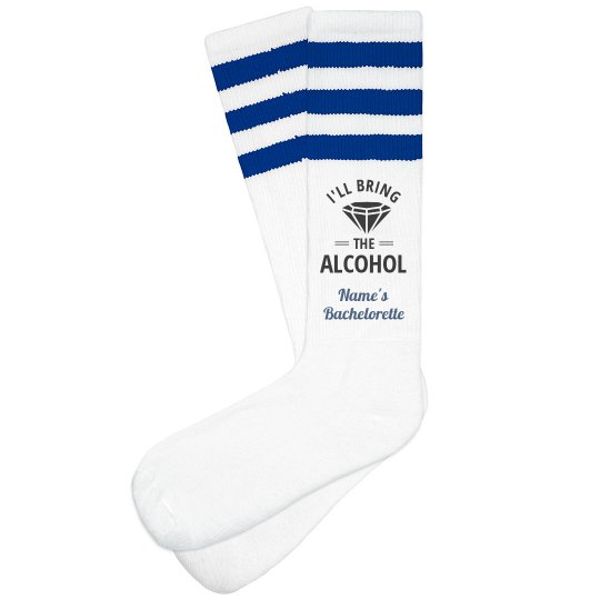 Bachelorette Socks Bring Alcohol