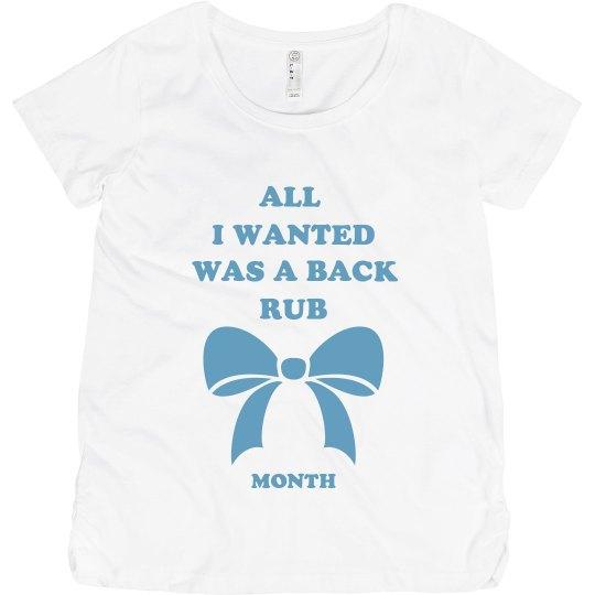 Back Rub Maternity Tee