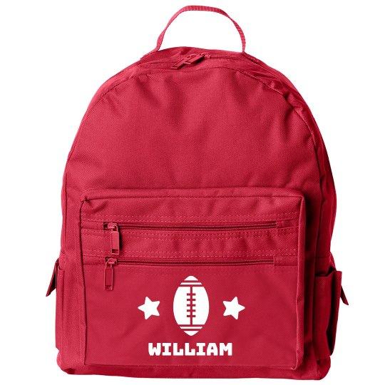 Back to School Kid's Custom Football Backpack