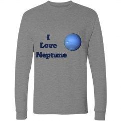 I Love Neptune (adult) - longsleeve gray