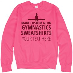 Custom Neon Pink Gymnastics