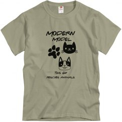 MODERN MODEL MEN'S ANIMAL RESCUE SHIRT