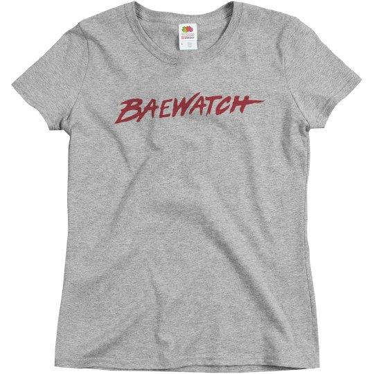 Bae Watch Trendy Text
