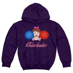 Cute Cheer Girl Youth Hoodie