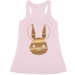 Gold Metallic Bunny