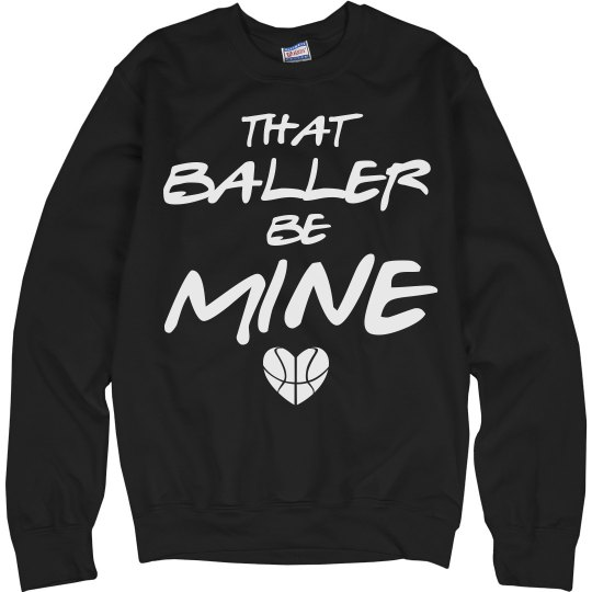 Baller B-Ball Basketball Girlfriend Sweater