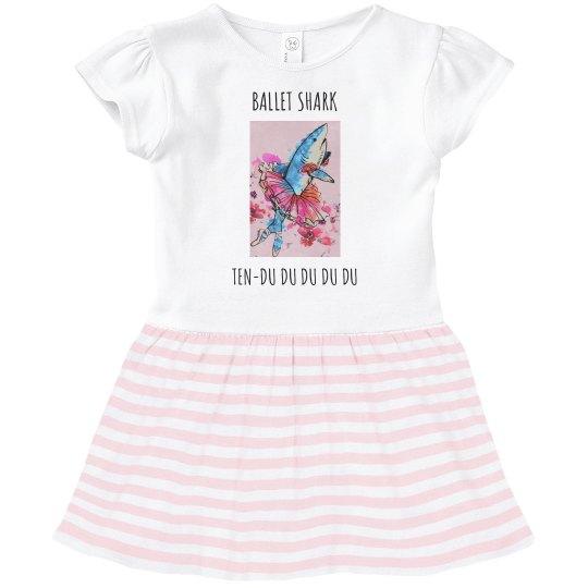 Ballet shark ten-du toddler dress