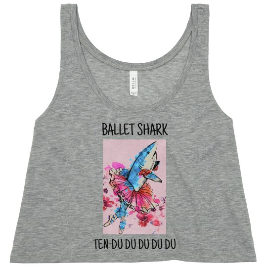 Ballet shark women's crop top tank
