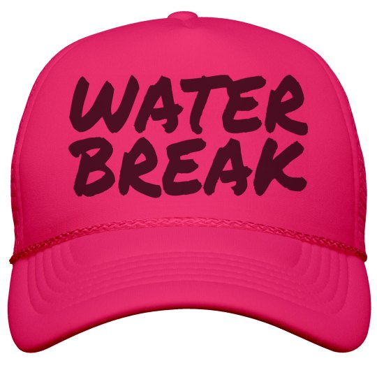 Band Camp Water Break Neon Hat for Summer