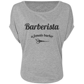 Barberista off the Shoulder - Gray
